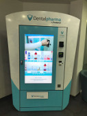 smart vending machine selling dental care products
