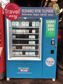 smart vending machines selling mobile phone accessories like power banks, charger, USB cable, earphone and so on.