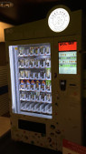 a smart vending machine selling salad, healthy food and drinks