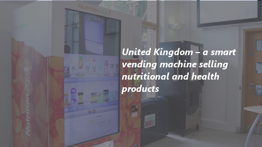 United Kingdom – a smart vending machine selling nutritional and health products